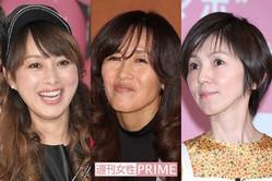 写真左から渡辺美奈代、工藤静香、渡辺満里奈