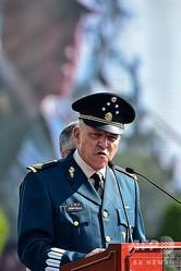 メキシコのサルバドル・シエンフエゴス国防相(当時、2016年4月16日撮影)。(c)RONALDO SCHEMIDT / AFP