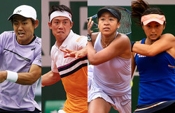 錦織、大坂なおみ、西岡、土居の4人が本戦入り。全米オープン本戦出場者発表