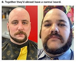 """右巻きにするか、左巻きにするかが悩みどころ…?(画像は『Pleated Jeans 2021年1月14日付「""""Monkey Tail"""" Beards Are The Latest Male Facial Hair Trend That Needs To Stop (22 Pics)」』のスクリーンショット)"""