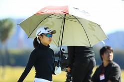注目の安田祐香は2アンダー 合格に向けて上々のスタートを切った(撮影:福田文平)