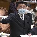 尾身氏に質問をぶつける福山哲郎氏(参院インターネット審議中継から)