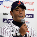 TOKYO, JAPAN - NOVEMBER 08:  Head coach Atsunori Inaba #80 of Japan attends the Japan All-Star Series Press Conference at Tokyo Dome on November 8, 2018 in Tokyo, Japan.  (Photo by Kiyoshi Ota/Getty Images)
