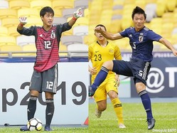 今大会初出場となったGK佐々木雅士(柏U-18)と、3試合ぶり出場のDF石田侑資(市立船橋高)