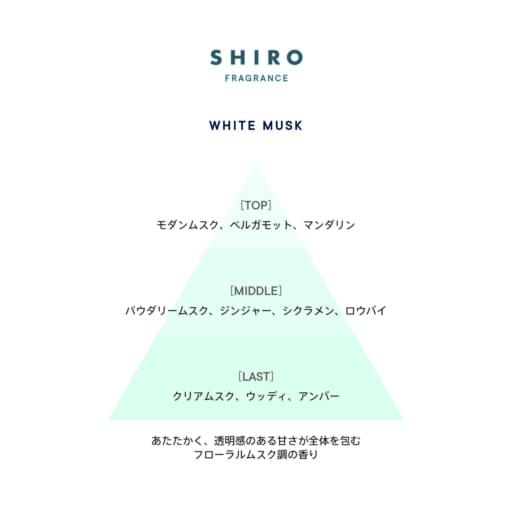 """予約必至【SHIRO】フレグランスシリーズからブランド初""""ホワイトムスクの香り""""登場"""