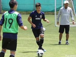 高体連組唯一のU-16日本代表、FW樺山諒乃介がセネガル戦勝利を誓った