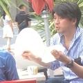 18年、レストランでデート中の宮崎と金子を目撃!