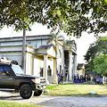銃撃戦があったホンジュラス北西部エルプログレソの裁判所=13日(EPA時事)