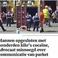 コンテナから出てきた2人の薬物密売人(画像は『Gazet van Antwerpen 2019年7月25日付「Mannen opgesloten met honderden kilo's cocaïne, advocaat misnoegd over communicatie van parket」(Foto: rr)』のスクリーンショット)