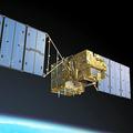 温室効果ガス観測技術衛星「いぶき」(GOSAT)のイメージ=JAXA提供