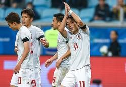 ウルグアイ戦で2得点の三好(11番)をはじめ、東京五輪世代の選手層が厚みを増している。中国メディアはこの点も高く評価した。(C)Getty Images