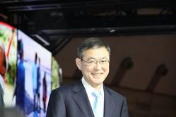 SUBARUの吉永泰之社長(2017年10月25日撮影)