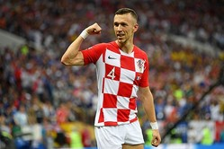 鮮烈なゴールを決めただけでなく、献身的な守備でもファンの心を打ったペリシッチ。モドリッチに匹敵する、クロアチア躍進の立役者だ。(C)Getty Images
