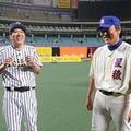 『とんねるずのスポーツ王は俺だ‼』「リアル野球BAN」で石橋率いるチーム石橋と松井秀喜率いるチーム松井がナゴヤドームで激突(C)テレビ朝日