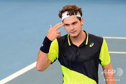 男子テニスのチアゴ・ザイブチ・ビウチ(2020年3月6日撮影)。(c)Brenton EDWARDS / AFP
