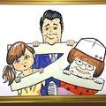 コブクロ小渕が描いた水卜アナ、加藤、春菜の似顔絵(画像は『日本テレビ スッキリ 2018年4月13日付Twitter「【#今週の1枚】#HARUNAまとめ で生歌披露をしてくれた #コブクロ のお2人。」』のスクリーンショット)