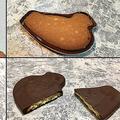 鳩サブレー缶で自作したチョコ掛け鳩サブレー 天才の発想だと話題に