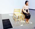 (写真)「表現の不自由展・その後」で展示されていた「平和の少女像」=1日、名古屋市