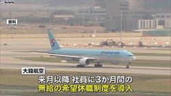 """大韓航空""""業績悪化""""日本路線の急減で?"""