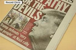 13日、仏国際放送ラジオ・フランス・アンテルナショナル(中国語電子版)はトランプ米大統領の訪日について、貿易で日本に厳しい要求をつきつけてくる可能性があると報じた。写真はトランプ大統領に関する報道。