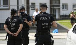 ドイツの警察官(2020年6月22日撮影、資料写真)。(c)Ina FASSBENDER / AFP