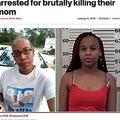 死亡した母親と殺人罪で逮捕された14歳娘(画像は『New York Post 2019年1月8日付「Teen girl, 12-year-old sister arrested for brutally killing their mom」(Facebook; Pike County Sheriffs Office)』のスクリーンショット)