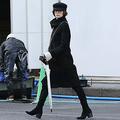 今年1月に目撃した米倉。その足取りは軽やかだった。