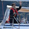 辛坊治郎氏 太平洋横断へ出航