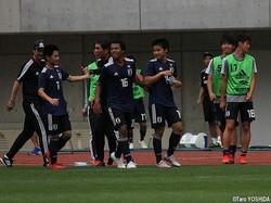 後半36分、U-17日本代表はMF中野桂太(京都U-18、14番)が決勝ゴール
