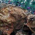 ニカラグア南部ラエスペランサの金鉱の崩落事故現場(2020年12月4日提供)。(c)AFP PHOTO / FUNDACION DEL RIO / RUDY GONZALEZ