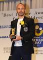 「第13回ベスト・ファーザー賞」特別賞を受賞したイニエスタ(撮影・亀井 直樹)