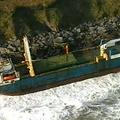 アイルランド・バリーコットン近くで座礁した貨物船アルタ。同国の沿岸警備隊提供(2020年2月16日撮影、17日公開)。(c)AFP PHOTO / IRISH COAST GUARD