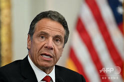 米ニューヨーク州のアンドルー・クオモ知事(2020年5月26日撮影)。(c)Johannes EISELE / AFP