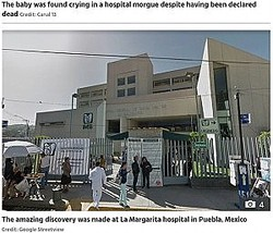 新生児を死産と診断したメキシコの病院(写真は