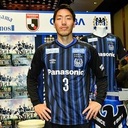 キックオフカンファレンスに登場したG大阪の昌子。写真:金子拓弥(サッカーダイジェスト写真部)