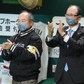 ソフトバンク・孫正義オーナー(左)と王貞治会長【写真:荒川祐史】