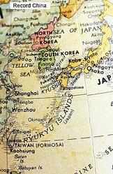18日、韓国・東亜日報によると、韓国で「日本海が消滅する可能性がある」とする研究結果が発表された。写真は世界地図。