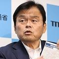 「Go To トラベル」キャンペーンで、東京発着を対象外とする方針などについて記者会見で説明する赤羽一嘉国土交通相=2020年7月17日午前、国交省