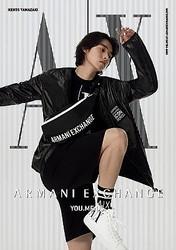 山崎賢人、得意のアクションでアルマーニの魅力を表現