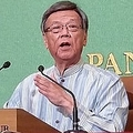 8日、沖縄県知事の翁長雄志氏が死去したことが、中国でも速報で伝えられた。写真は翁長氏。