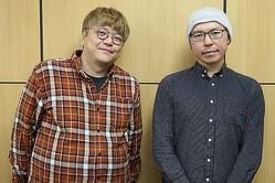角田陽一郎氏(左)が小説家・乙一氏に、初の長編監督映画『シライサン』の制作秘話を聞く!