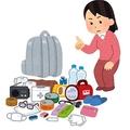 大阪北部での地震後に公開された「非常用持ち出し袋の確認のイラスト」
