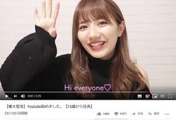 椎木里佳さんのYouTube初投稿動画より。「低評価」が「高評価」より圧倒的に多くなっている