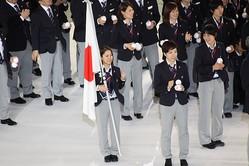 平昌オリンピック出発前の日本選手団壮行会