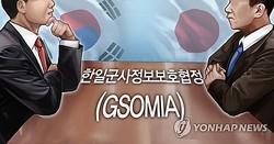 韓日のGSOMIAは23日午前0時に失効する(イラスト)=(聯合ニュース)