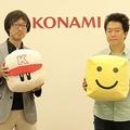 KONAMIプロデューサーの森博信さん(左)と山口剛さん【写真:編集部】