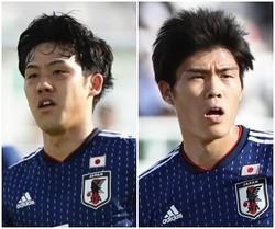フル出場で日本代表の勝利に貢献した遠藤、冨安。クラブでもともにプレーしており、代表でも非常に息の合ったプレーを見せている。 写真:茂木あきら(サッカーダイジェスト写真部)