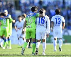 昨季は湘南と徳島が争ったJ1参入プレーオフ決定戦。今季はプレーオフを行なわないことになった。写真:金子拓弥(サッカーダイジェスト写真部)