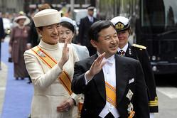 オランダ国王の即位式に出席され、国際親善を果たされた(2013年、オランダ・アムステルダム/時事通信フォト)