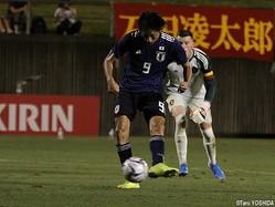 後半14分、U-18日本代表FW藤尾翔太(C大阪U-18)が左足で2点目のゴール